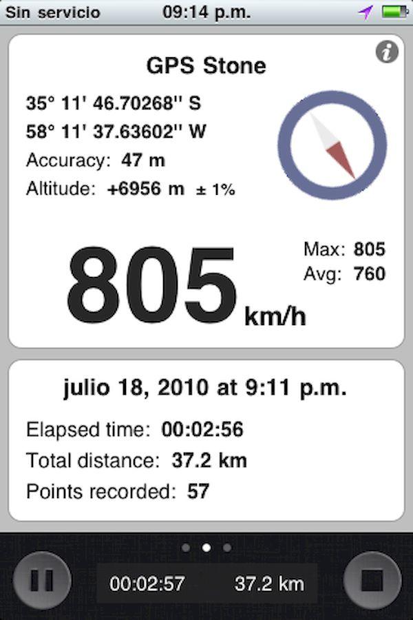 805 km/h