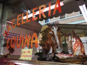 Horse meat butchers in Italy - Italian Notes
